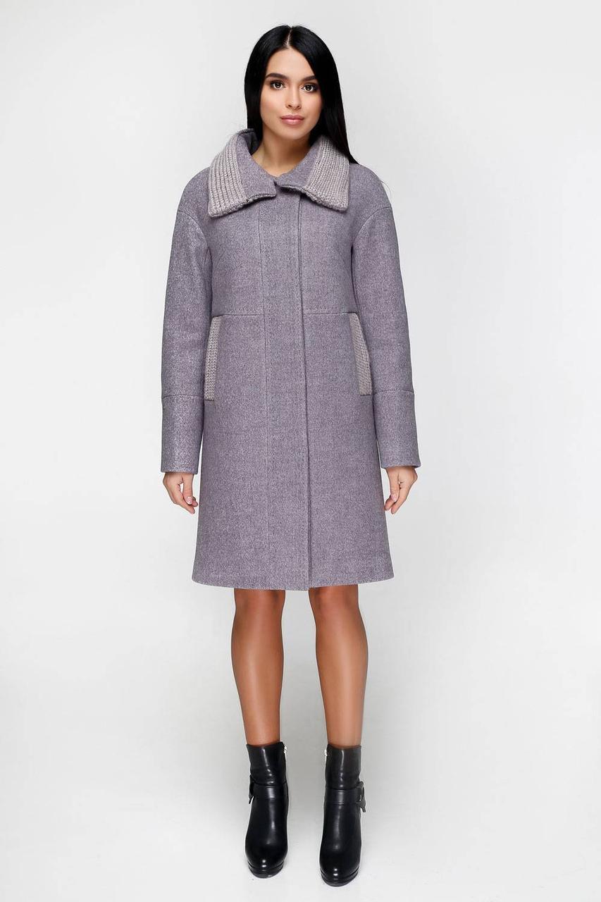 Зимнее шерстяное пальто с утеплителем 1140 (44–54р) в расцветках