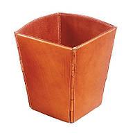 Кожаный корзина на макулатуру - для любого интерьера - Изделие с отделкой кожей no: 06, 07, 16
