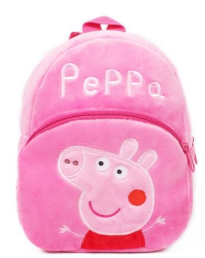 Детский мягкий рюкзак для девочки 2-4 года Пеппа плюшевый рюкзачек для детского сада