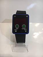 Наручные электронные LED часы, черный с синим