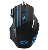Игровая компьютерная мышь USB Esperanza MX201 WOLF (EGM201B) Черный / Синий