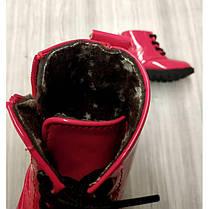 Ботинки детские лаковые  на девочку черные  осень-весна, фото 3