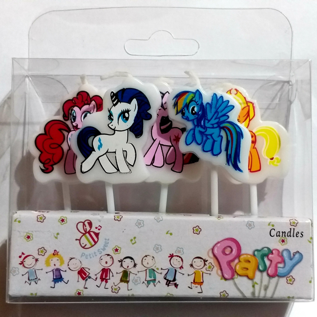 "Свечи на торт  ""Little pony""Little pony"" в наборе 5 шт."