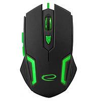 Игровая компьютерная мышь USB Esperanza MX205 FIGHTER (EGM205G) Черный / Зеленый