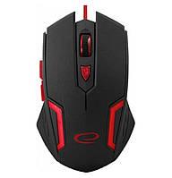 Игровая компьютерная мышь USB Esperanza MX205 FIGHTER (EGM205R) Черный / Красный