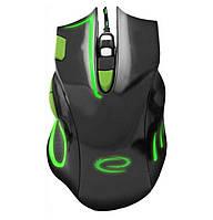 Игровая компьютерная мышь USB Esperanza MX401 HAWK (EGM401KG) Черный / Зеленый