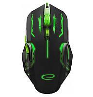 Игровая компьютерная мышь USB Esperanza MX403 APACHE (EGM403G) Черный / Зеленый