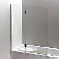 Шторка на ванну 120*150 см, левая, правая,цвет профиля хром