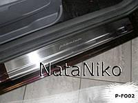 NataNiko Накладки на пороги для FORD C-MAX II '10- (Комплект 4 шт.) Standart
