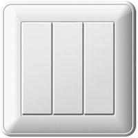 Выключатель трехклавишный белый Schneider Electric - W59 (Шнейдер Электрик W59 )