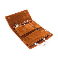 Стильный футляр для ювелирных изделий - натуральная кожа - Чехол с узором из кожи номер: 06, 07, 16 (модель B. 59)