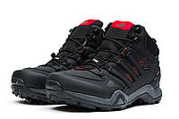 Мужские зимние ботинки на меху в стиле Adidas Terrex Gore Tex, черные. Код товара KW - 30514