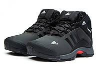 Мужские зимние ботинки на меху в стиле Adidas Climaproof, серые. Код товара KW - 30502