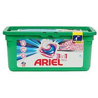 Гель-капсулы для стирки Ariel 3in1 32 шт., с ленором, для белых и цветных тканей