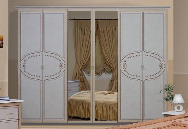 Шкаф Мартина 6Д с зеркалом Миро-Марк
