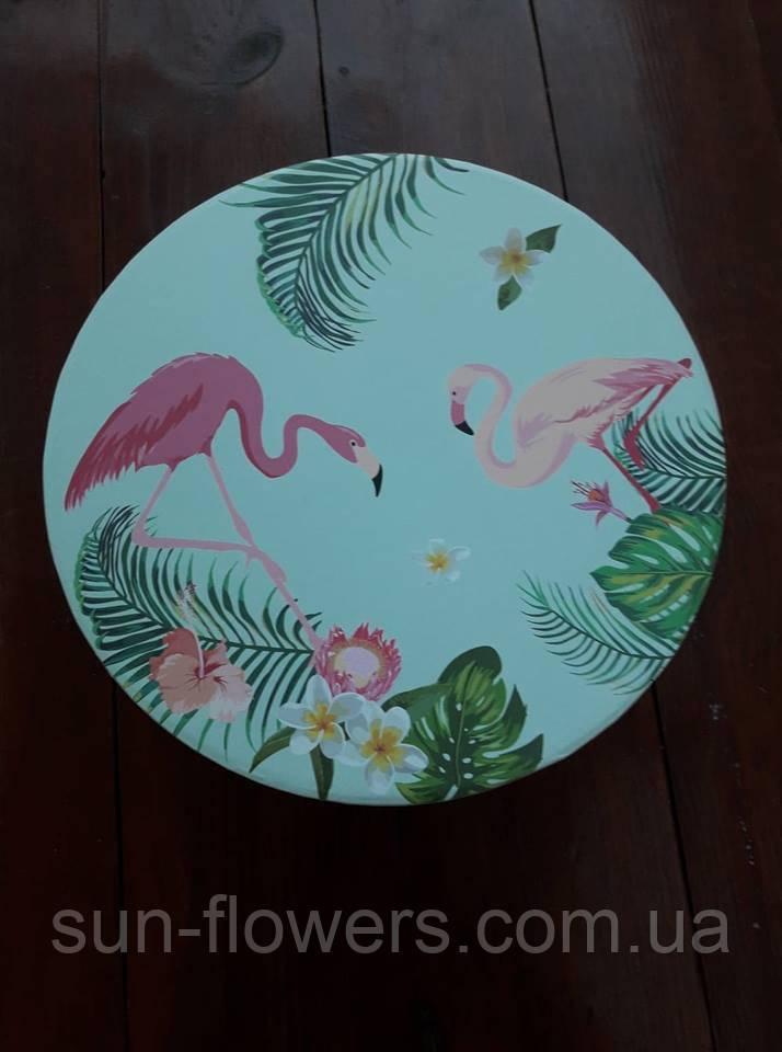 Коробка декоративная с фламинго