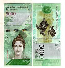 Венесуела 5.000 боліварів стан UNS