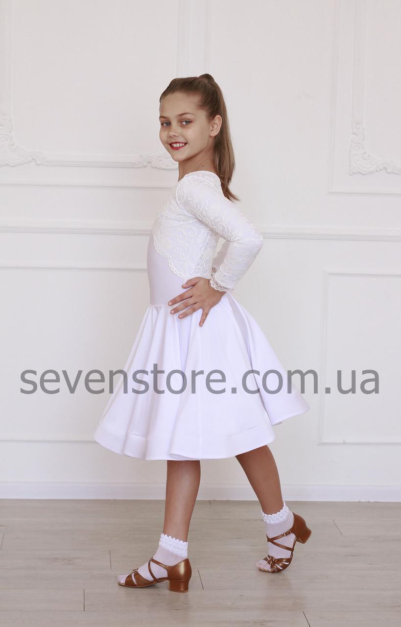 Рейтингове плаття Бейсік для бальних танців Sevenstore 9132 Біле