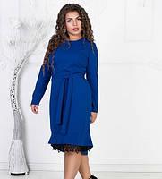 0ca0e42f2b7 Синее платье с кружевом в Украине. Сравнить цены