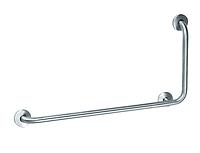 Поручень L-образный для людей с ограниченными возможностями диаметр трубы 32 мм, размер 80Х40Х12 см OST-078