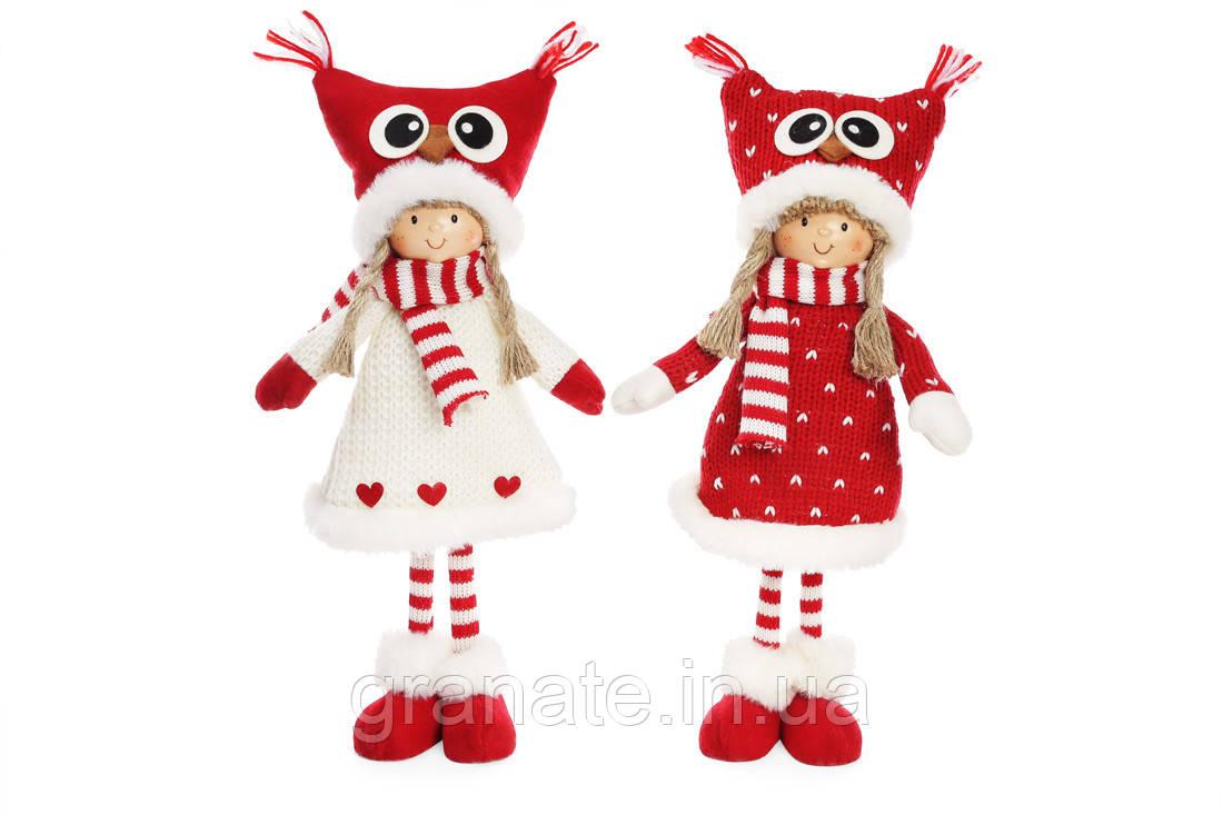 Мягкая новогодняя кукла 40 см (2шт)