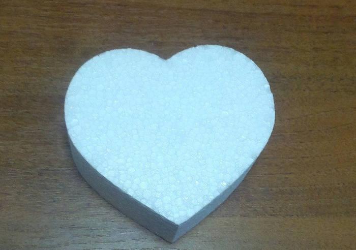 Сердце плоское 50 см.