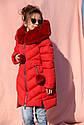 Зимнее пальто на девочку Ясмин с мутоном Тм Nui Very  Размеры 116- 158 Мята, фото 4