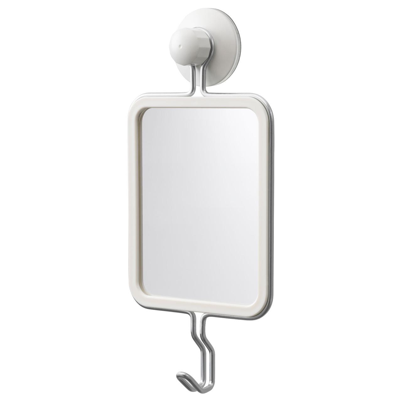 ИММЕЛЬН Дзеркало з гачками, на присоску, оцинкований 40354117 IKEA, ІКЕА, IMMELN