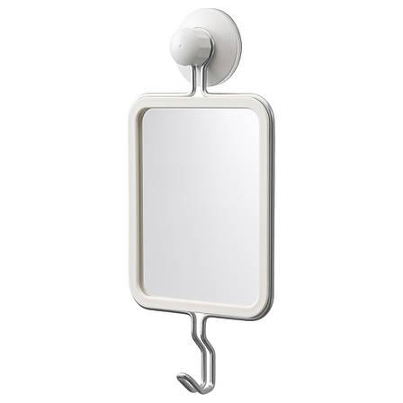 ИММЕЛЬН Дзеркало з гачками, на присоску, оцинкований 40354117 IKEA, ІКЕА, IMMELN, фото 2