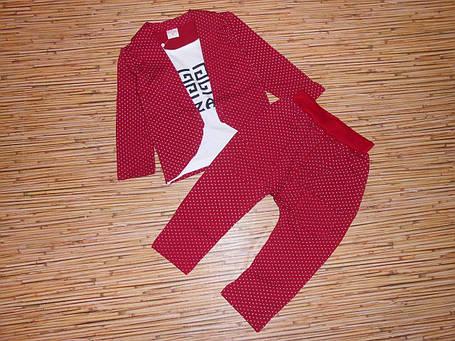 Нарядный костюм двойка на  мальчика красный 110 размер, фото 2