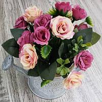 """Композиція зі штучних квітів """"Sweet Roses"""" 17 * 17см"""