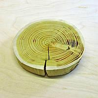 Срез (спил) шлифованный без коры с трещиной 20-22см