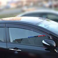 COBRA TUNING Дефлекторы окон на Honda Civic VIII '06-11 седан (накладные)