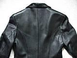 Кожаное женское пальто Б/У Размер S / 44-46, фото 7