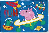 Детский флисовый плед Свинка Джордж Поросенок 100х150 подарок для мальчика