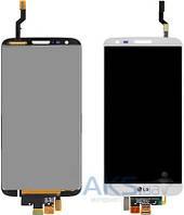 Дисплей (экран) для телефона LG G2 D802, G2 D805 + Touchscreen Original White