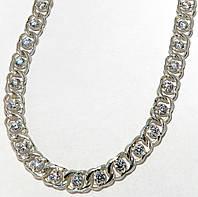 Серебряная цепочка с камнями, фото 1