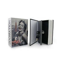 Книга, книжка сейф на ключе, металл, 180х115х55м BookSafe