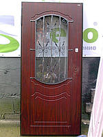 Двері вхідні металеві термо мдф склопакет ковка виготовлення на замовлення