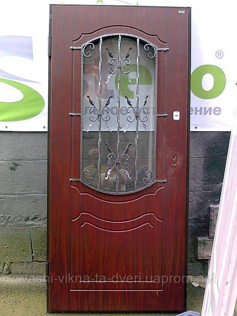 Двері вхідні металеві термо мдф склопакет ковка виготовлення на замовлення - Вікна Двері для оселі в Львове