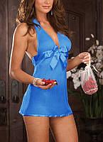 Пеньюар сексуальная леди №95 синий цвет
