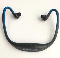 Беспроводные Bluetooth Наушники + FM Радио + поддержка MicroSD mp3 Синие