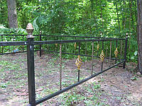 Ограды кованые на кладбище