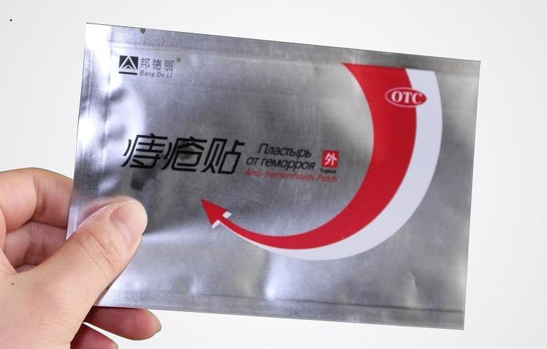 Китайский трансдермальный пластырь от геморроя ANTI-HEMORRHOIDS