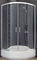Душова кабіна 80х80 SANTEH 1901800 + середній піддон 28.5см з сидінням