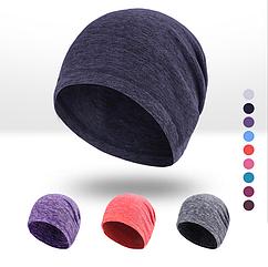 Спортивная трикотажная утепленная шапка-бини из флиса «NorthFlag» KW-D