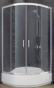 Душова кабіна 80х80 SANTEH + середній піддон 31.5см з сидінням