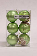 84231 Елочные шарики 6см 6шт/кор (96кор)