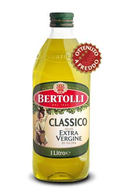 Оливковое масло первого холодного отжима Bertolli Classico Extra Vergine, 1 л.