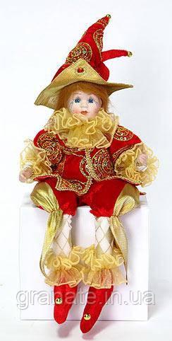 """Новогодняя кукла """"Шут"""" 40 см"""